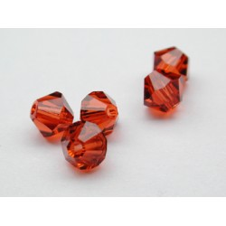 TOUPIES SWAROVSKI INDIAN RED 6mm/10 pièces