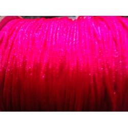 FIL SHAMBALLA ROSE FLUO 1,5mm/10 mètres