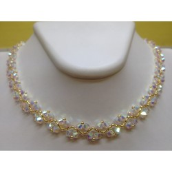 COLLIER SWAROVSKI EPIS CRYSTAL AB2X OR