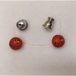 BOUCLES D'OREILLES CLOUS INDIAN RED 6mm