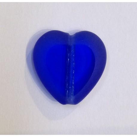 Perles coeur bleu
