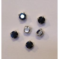 STRASS A COUDRE SWAROVSKI CRYSTAL METALLIC BLUE 4X4mm/10 pièces