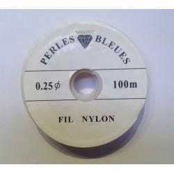 FIL NYLON SPECIAL PERLES 0,25mm/100 mètres