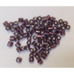 HEXAGONE AMETHYST ARGENT BRILLANT 8/0 5 grammes