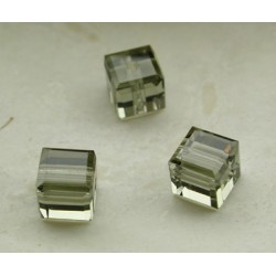 CUBES SWAROVSKI BLACK DIAMOND 8mm/5 pièces