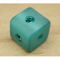 CARRE BLUE ZIRCON 8mm
